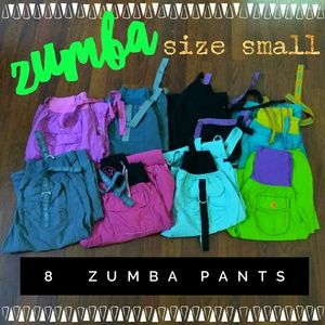 Pants - Lot of 8 pairs Zumba pants + 4 bras
